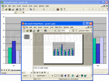 Converting an Excel file to PowerPoint format.