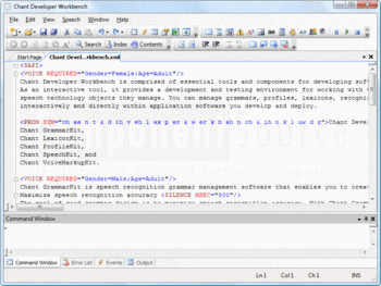 Adding markup to an XML file with Chant VoiceMarkupKit.